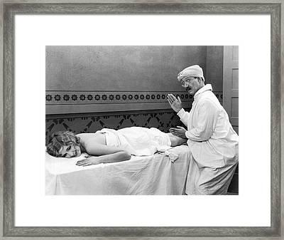 Silent Movie Still Framed Print by Underwood Archives