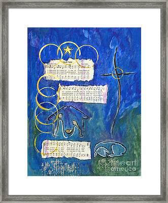 Silent Night A Holy Night - Original Painting By Ella Framed Print