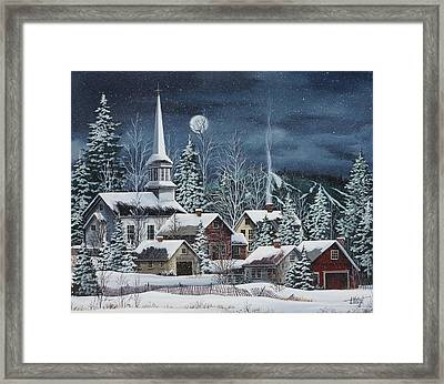 Silent Night Framed Print by Debbi Wetzel