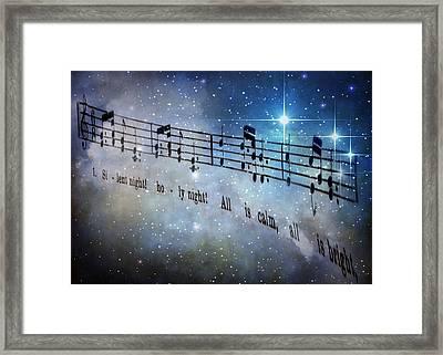Silent Night Holy Night Framed Print by David and Carol Kelly