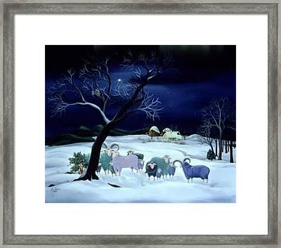 Silent Night Holy Night Framed Print by Magdolna Ban