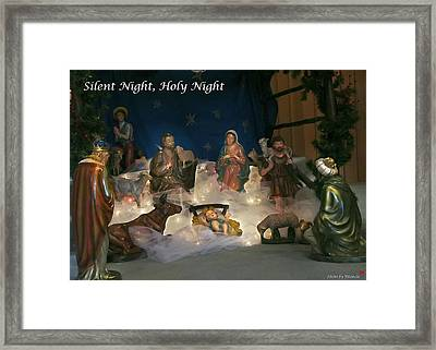 Silent Night Holy Night Framed Print