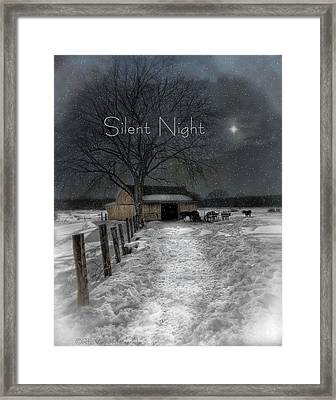 Silent Night Framed Print by Robin-Lee Vieira