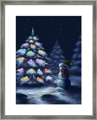 Silent Night Framed Print by Veronica Minozzi
