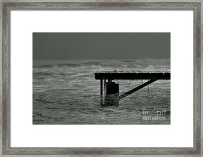 Peaceful Pier Framed Print