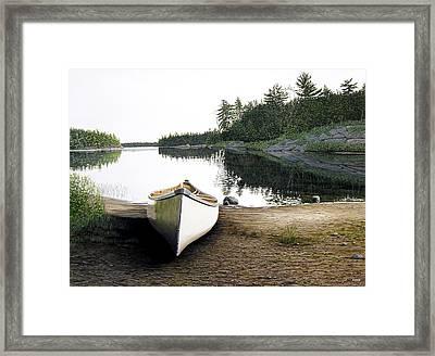 Silent Retreat Framed Print
