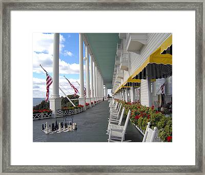 Silent Rockers At The Grand Hotel Framed Print