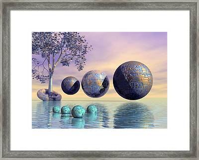 Silent Seven - Surrealism Framed Print by Sipo Liimatainen