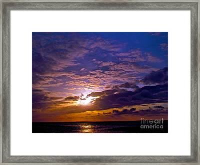 Silent Stride Of Earth Framed Print by Q's House of Art ArtandFinePhotography