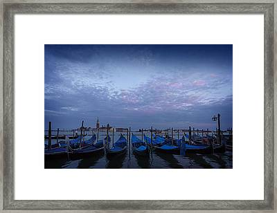 Silent Sunset In Venice  Framed Print by Dominique Dubied