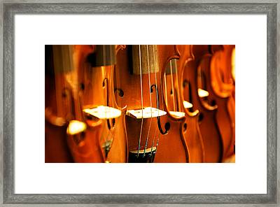 Silent Violins Framed Print by Maurizio Incurvati