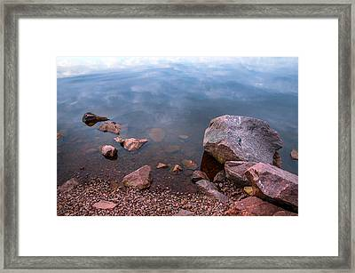 Silent Waters. Ladoga Lake Framed Print by Jenny Rainbow