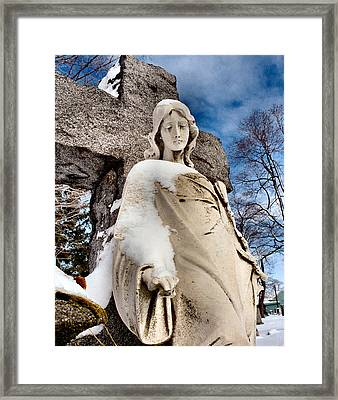 Silent Winter Angel Framed Print by Gothicrow Images