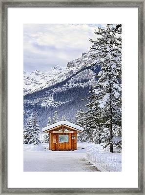 Silent Winter Framed Print by Evelina Kremsdorf