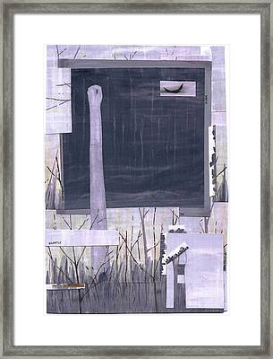 Silently The Storm Corrodes Framed Print by Dan Haley