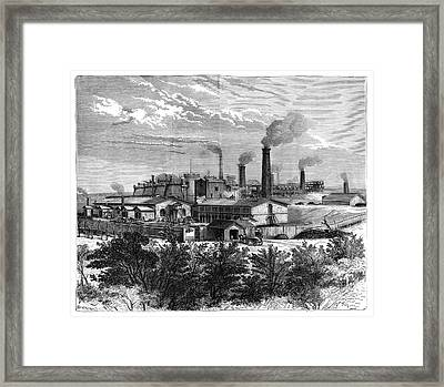 Silesian Mines And Industry Framed Print by Science Photo Library