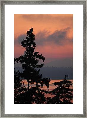 Framed Print featuring the photograph Silhouette At Sunrise by E Faithe Lester