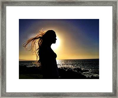 Silhouette At Sunset Framed Print by Julianne Baltrus