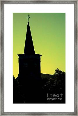 Silhouette Church Framed Print by JoNeL Art
