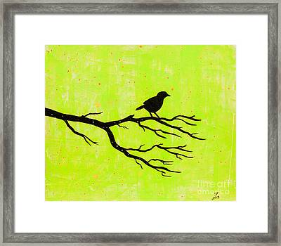 Silhouette Green Framed Print by Stefanie Forck