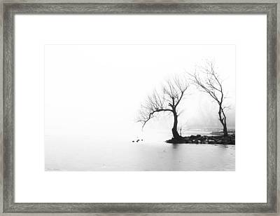 Framed Print featuring the photograph Silhouette In Fog by Yvonne Emerson AKA RavenSoul
