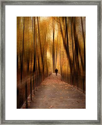 Silhouette In Solitude Framed Print by Jessica Jenney