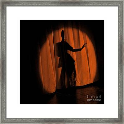 Framed Print featuring the photograph Silhouette Of A Singer ... by Chuck Caramella