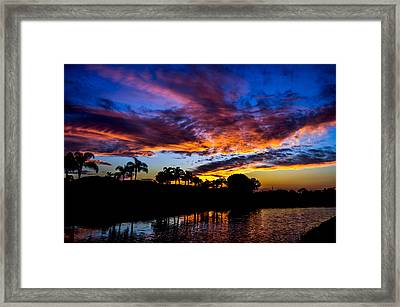 Silhouette Of Color Framed Print