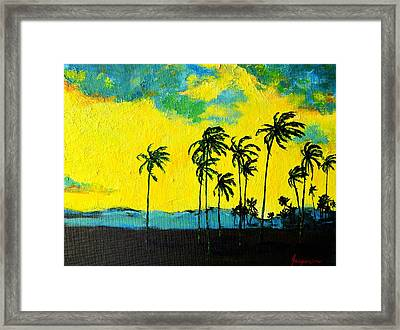 Silhouette Of Nature Framed Print