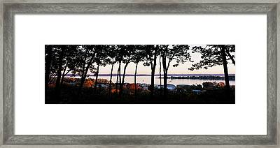 Silhouette Of Trees At Dusk, Little Framed Print