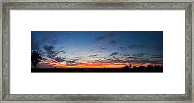 Silhouette Of Trees At Sunset, Todos Framed Print