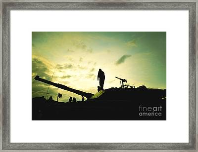 Silhouette Of War  Framed Print by Stefano Senise