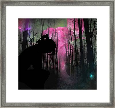 Woman Lost  Framed Print