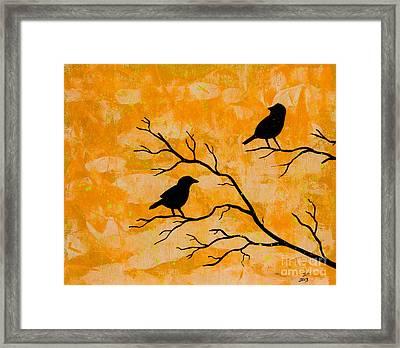 Silhouette Orange Framed Print by Stefanie Forck
