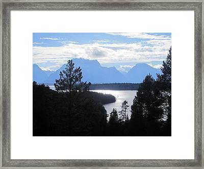 Silhouette Peaks Framed Print by Mike Podhorzer