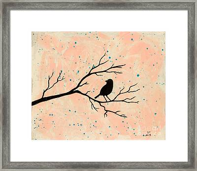 Silhouette Pink Framed Print