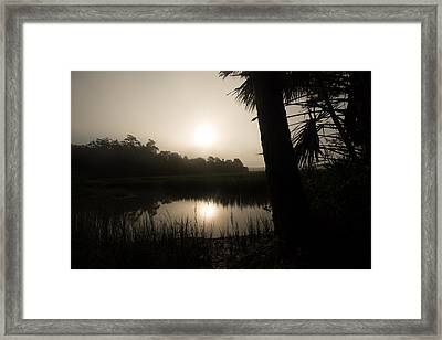 Silhouette  Sunrise Framed Print by Margaret Palmer