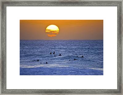 Silhouettes And Gold Framed Print by Sean Davey