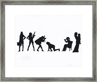 Silhouettes Of A Woman Framed Print by Laura Charlesworth