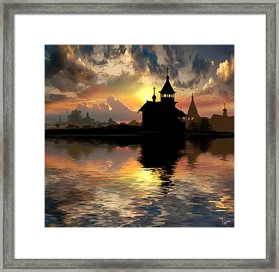 Silhouettes Of The Christianity Framed Print by Igor Zenin
