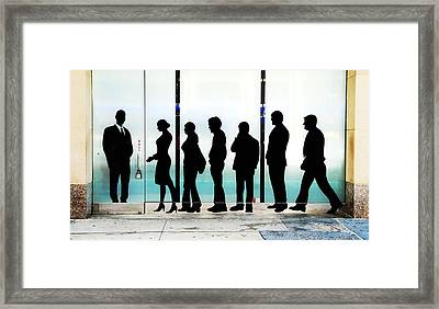 Silhouettes On Broadway Framed Print by Allen Beatty
