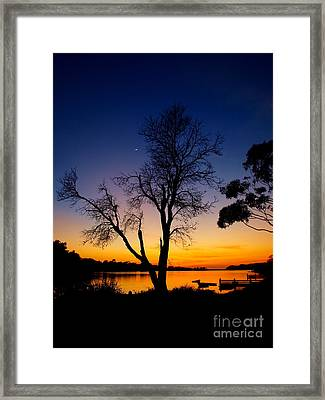 Framed Print featuring the photograph Silhouettes by Trena Mara
