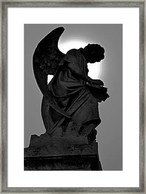Silhoutte Angel Framed Print