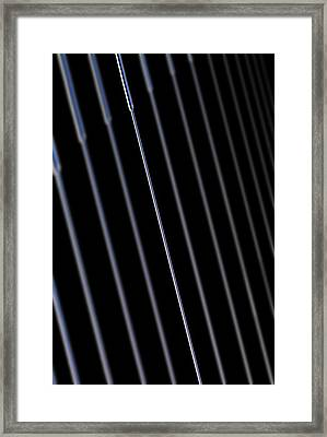 Silica Nano-wire Research Framed Print