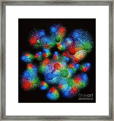 Silicon Atom Nucleus Framed Print by ArSciMed