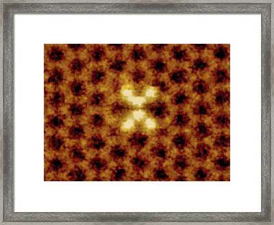 Silicon Atoms In Graphene Sheet Framed Print