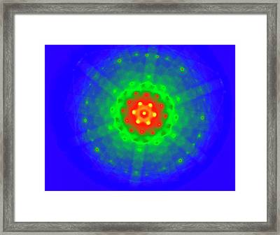 Silicon Crystal Diffraction Pattern Framed Print by Ammrf, University Of Sydney