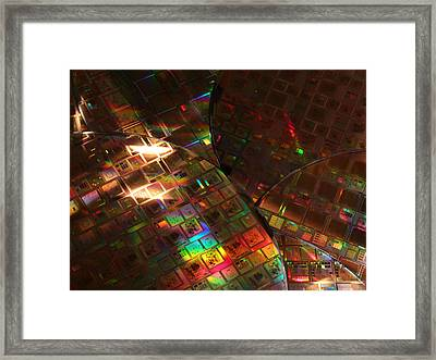 Silicon Wafers With Integrated Circuits Framed Print by Science Source