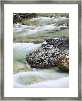 Silk And Stone Johnston Canyon Framed Print