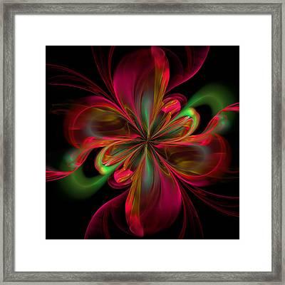 Silk Butterfly Abstract Framed Print by Georgiana Romanovna